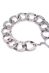 All Chained Up Anklet - Silver