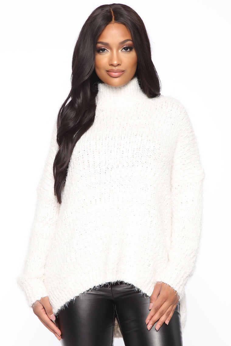 Forget What You Heard Sweater   White by Fashion Nova