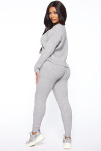 Cozy Nights Pant Set - Grey