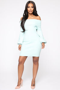 Need You Back Sweater Mini Dress - Mint Angle 1