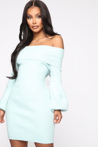 Need You Back Sweater Mini Dress - Mint Angle 2