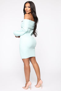 Need You Back Sweater Mini Dress - Mint Angle 4