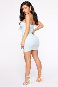 From The Valley Mini Dress - Blue