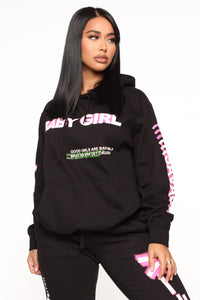 Foreign Babe Hoodie - Black Angle 1
