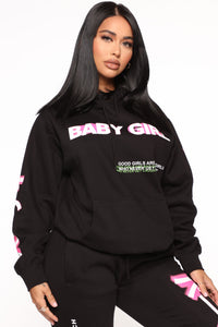Foreign Babe Hoodie - Black Angle 3