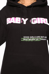 Foreign Babe Hoodie - Black Angle 6