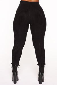 Cozy Nights Pant Set - Black