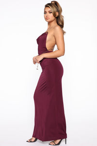 Chain the Game Maxi Dress - Plum Angle 3