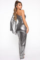 Looking Top Notch Maxi Dress - Silver