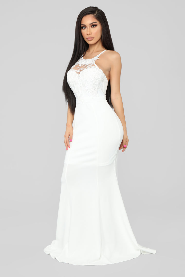 Let's Slow Dance Lace Gown - Ivory