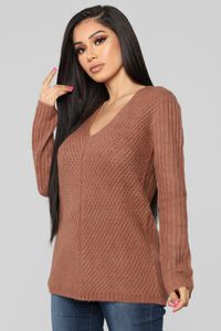 It's About Me Sweater - Mauve