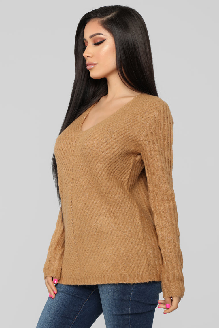 It's About Me Sweater - Camel