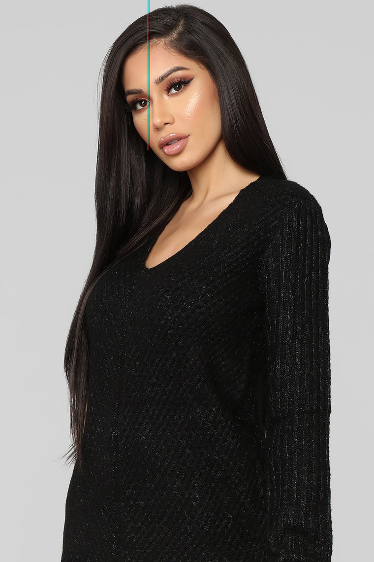 It's About Me Sweater - Black