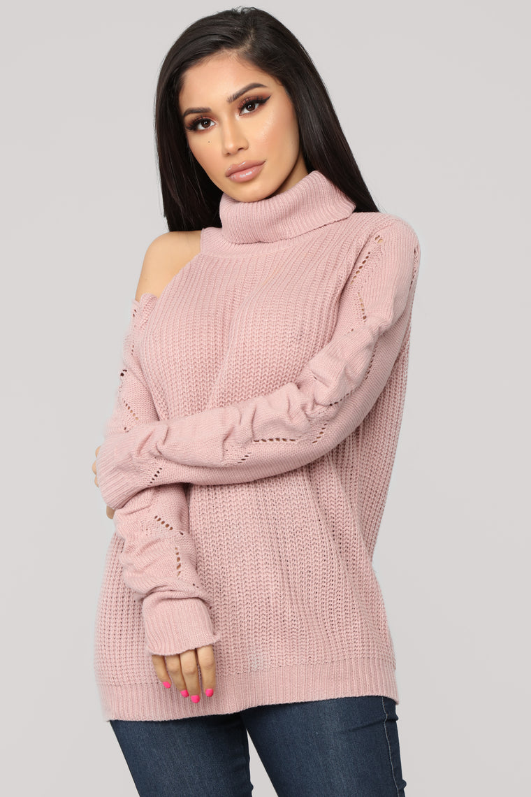 Cutting You Off Sweater - Mauve