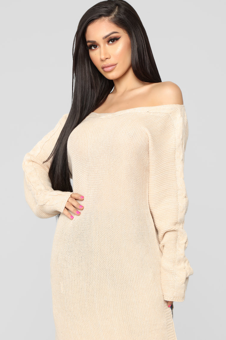 Can't Forget Me Sweater -  Nude