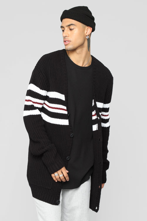 Montel Knitted Cardigan - Black/Multi