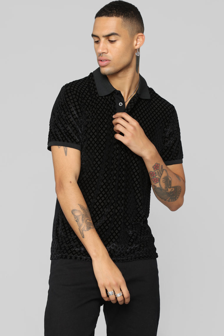 Cason Short Sleeve Polo - Black