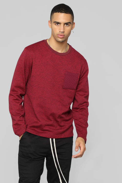 On Time Pullover Sweater - Red