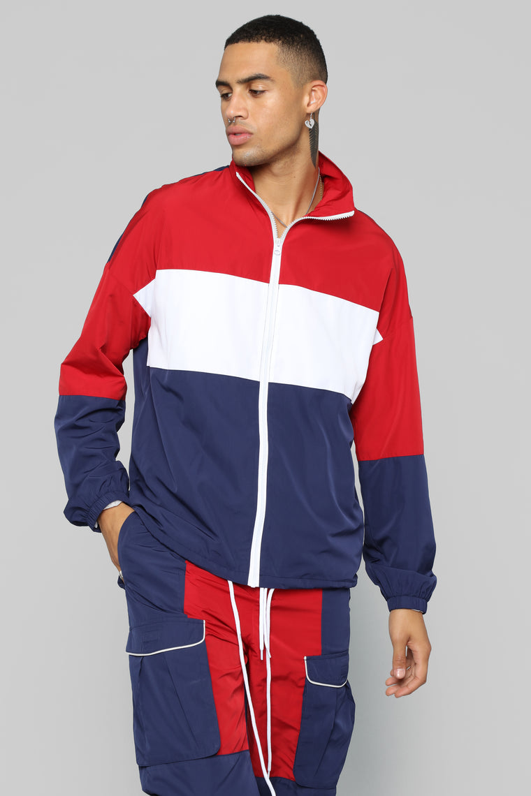Neilo Track Jacket - Red/Combo