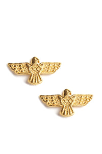 I'll Just Wing It Earrings - Gold
