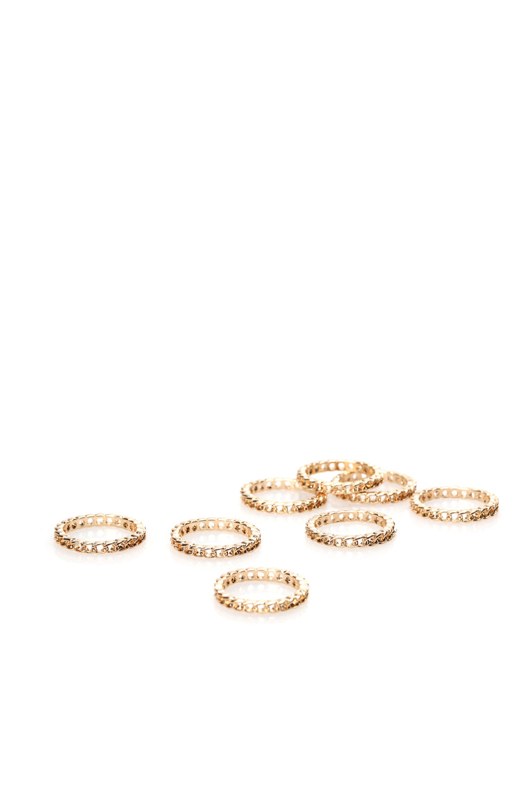 Bonded To You Ring Set - Gold