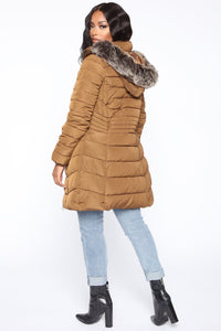 Next Level Winter Puffer Jacket - Brown Angle 5