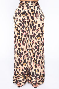 Forever Lover Animal Print Pant - Taupe/combo