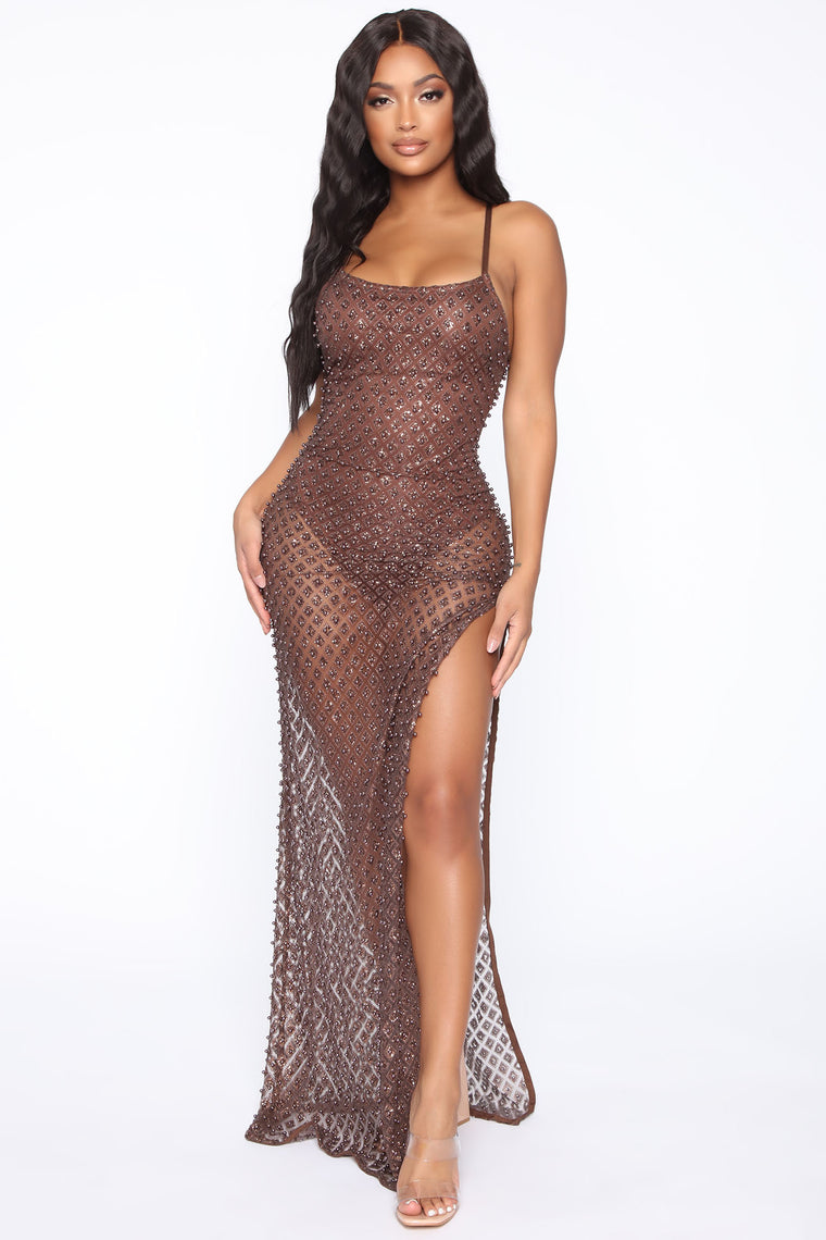 Holding On For You Maxi Dress - Bronze