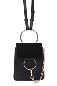 """Hangin' Around You"" Crossbody - Black Angle 2"