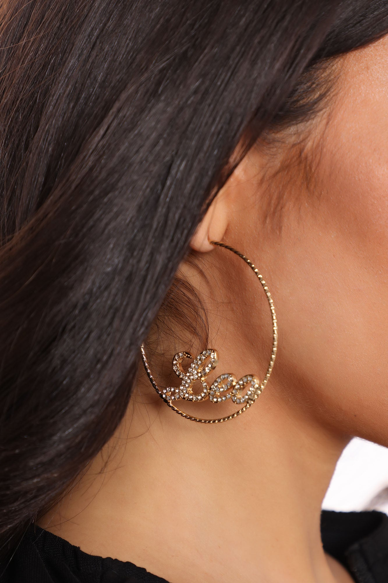 Guess My Sign Leo Hoop Earring Set - Gold