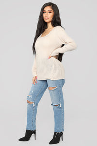 Cuddle By The Fire Sweater - Ivory