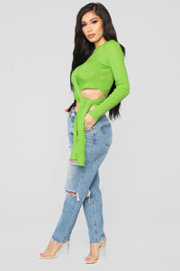Don't Overreact Sweater - Lime