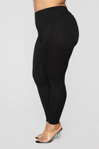Can't See Through Me Super High Rise Leggings - Black