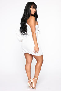 Extra Special Sequin Mini Dress - White