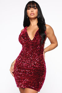 Game Over Sequin Mini Dress - Pink
