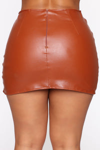 Flame In Your Heart Skirt - Cognac