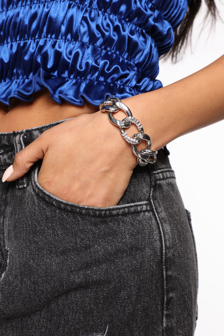 Chained To You Bracelet - Silver