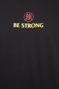 Be Strong Long Sleeve Tee - Black/Red