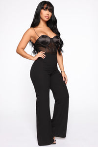 Chained To Me Jumpsuit - Black