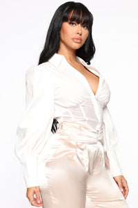 Too Fine Corset Shirt - White