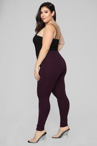 Jossie Stretch Moto Pants - Plum Angle 9