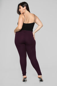 Jossie Stretch Moto Pants - Plum Angle 11