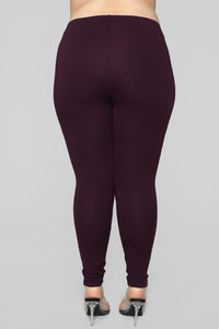 Jossie Stretch Moto Pants - Plum Angle 12