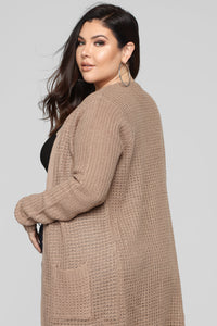 Abella Duster Sweater - Khaki