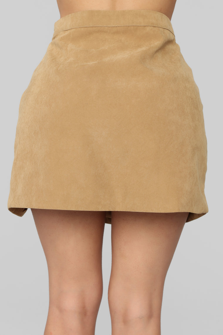 Better Off Skirt Set - Camel