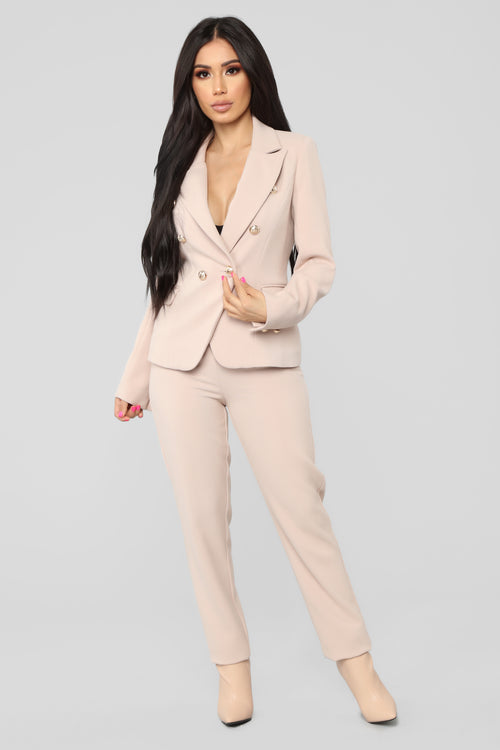 The Carlton Blazer Set - Blush