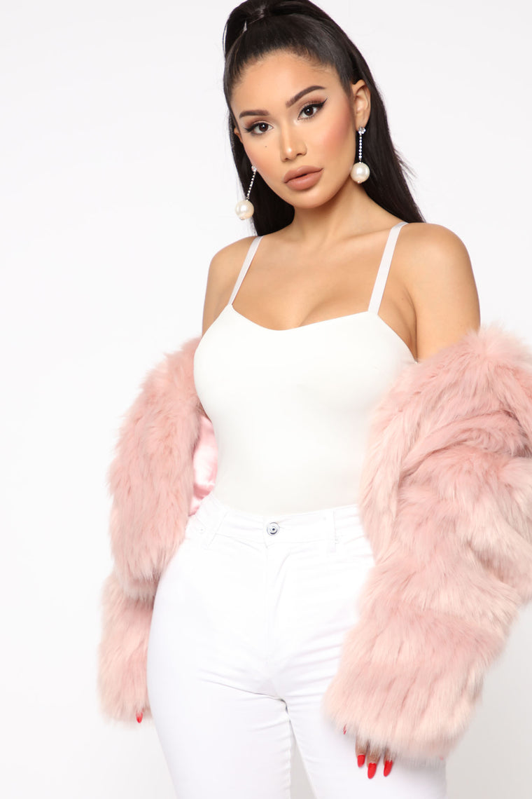 Nobody Else Faux Fur Coat - Pink