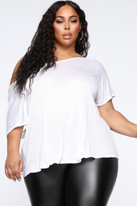 Simple Perfection Twist Back Top - White