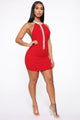 Showing Up Haute Mini Dress - Red
