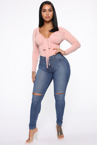 Love Me For The Day Long Sleeve Bodysuit - Mauve